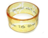 chunky resin bangle, When Life Gives you Lemons - BuyMyCrap