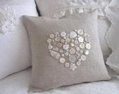 Sweet Linen Button Pillow