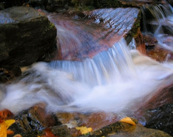 Waterfall Photography, Matted Photography, Fine Art Photography, Home Decor, Office Decor, Mountain Decor