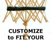 Umbrella Yarn Swift Cover Yarn Winder Drawstring Padded Bag -  Customize - Pick Your Fabric