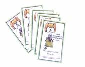 Book Sticker Label Ex Libris Bookplates - I Knit because I am smarter than you - Set of 10