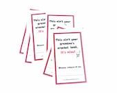 Book Sticker Label Ex Libris Bookplates - This ain't Your Grandma's Crochet - Set of 10