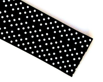 Pattern Magnet - Chart Keeper Magnetic Bookmark - Knitting Crochet Supplies Tools - Set of 3 - Black Polka Dot