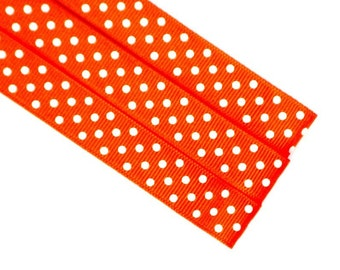 Pattern Magnet - Chart Keeper Magnetic Bookmark - Knitting Crochet Supplies Tools - Set of 3 - Orange Polka Dot