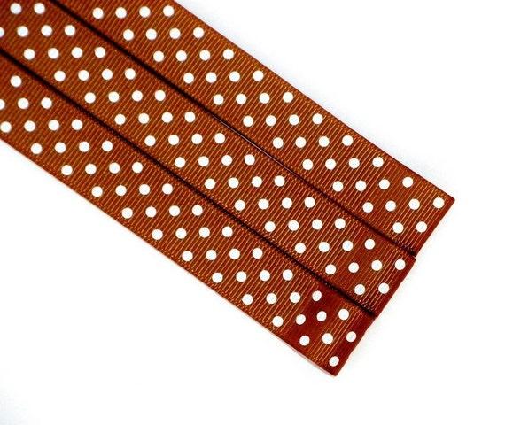 Pattern Magnet - Chart Keeper Magnetic Bookmark - Knitting Crochet Supplies Tools - Set of 3 - Brown Polka Dot