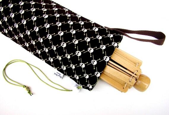 Umbrella Yarn Swift Cover Yarn Winder Drawstring Padded Bag - Green Yarn Pirates