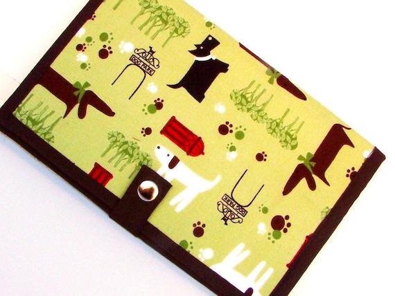 Pattern Wallet Pattern Keeper Knitting Crochet Supplies- Dog Park
