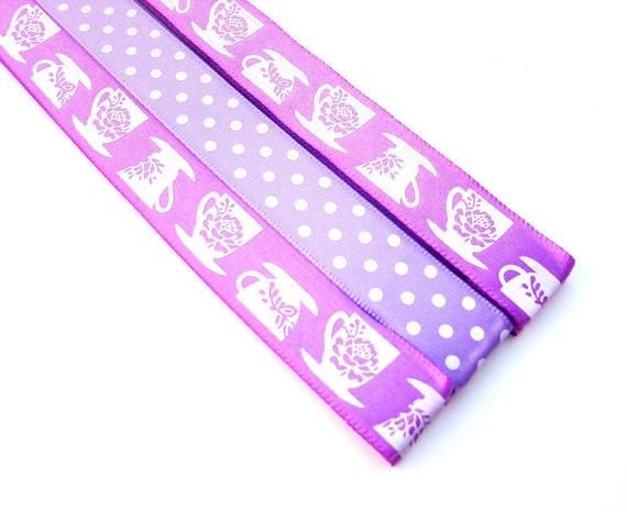 Magnet Bookmark - Pattern Keeper - 3 - Coffee or Tea Purple