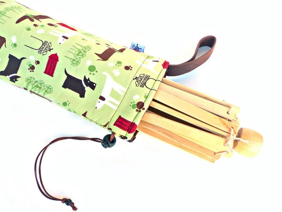 Yarn Swift Cover Yarn Winder Drawstring Padded Bag - Dog Park