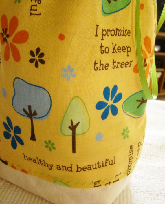 SAVE THE TREES - WIP Project Bag - GO GREEN
