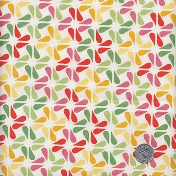 1/2 Yard  Rainy Days and Mondays - RAINDROP SQUARE White - Riley Blake Design Fabric SALE