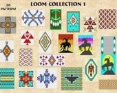 20 Loom or Square Stitch Bead Patterns - Collection 1