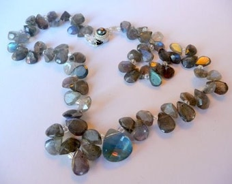 Labradorite and Briolette Necklace