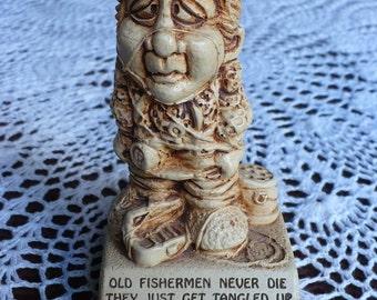 Old Fisherman figurine statue - 1972