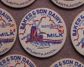 50 - Baker and Son Dairy milk bottle caps