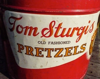 Tom Sturgis Old Fashioned Pretzels tin