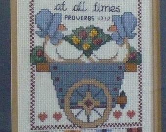 Proverbs 17:17 Cross stitch