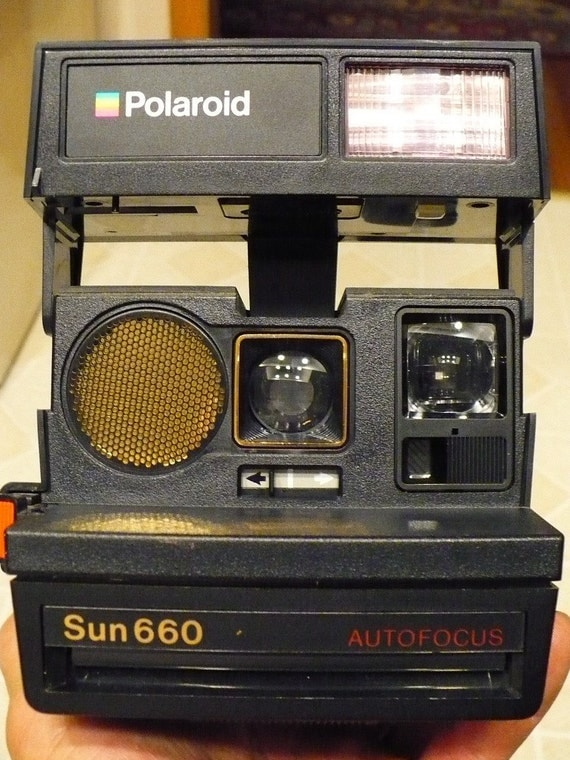 vintage polaroid sun 660 autofocus camera. Black Bedroom Furniture Sets. Home Design Ideas