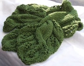 Scarf Knitting Pattern Twisted Vine