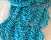 Bella Scarf PDF Hand Knitting Pattern