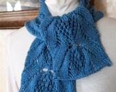 knitting pattern lace knit cowl scarf pdf knitting pattern cowl scarf neckwarmer - Dahlia PDF Hand Knit Scarf Pattern