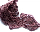 Twig hand Knitting Scarf PDF Pattern super quick and fun to knit