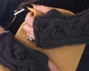 Instant Download pdf Hand Knitting Pattern  - Jewel Fingerless Gloves