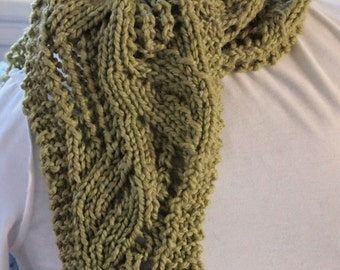 Bean Stalk Scarf PDF Knitting Pattern