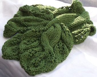 Knitting Scarf Pattern  - Twisted Vine