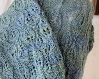 Instant Download pdf Hand Knitting Pattern  - Enchanted Shrug