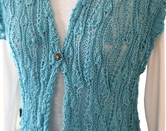 Sweater Knitting Pattern  - VineYard Vest