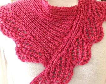 Scarf Knitting Pattern - Boysen Berry Cowl