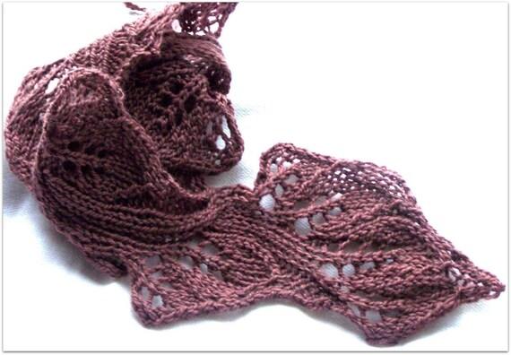 knitting scarf pattern Twig