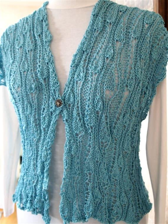 Sweater Knitting Pattern  - VineYard Vest