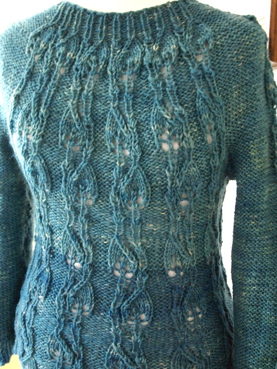 Instant Download Hand Knitting Pattern - Leafable Pullover