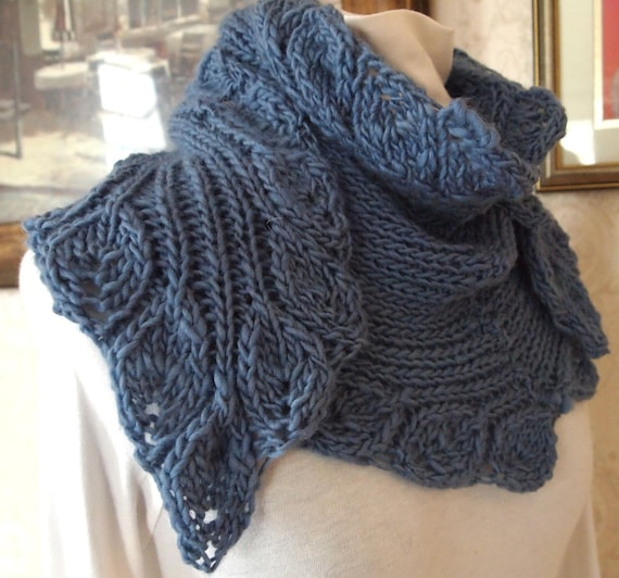 Scarf Knitting Pattern - Ruffle from KnitChicGrace on Etsy Studio