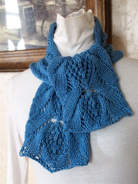 Dahlia PDF Hand Knit Scarf Pattern by KnitChicGrace on Etsy