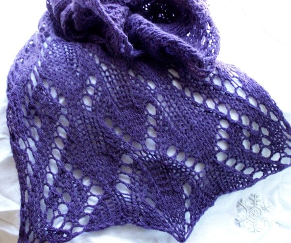 Ms Maple PDF Hand Knitting Pattern A fun quick scarf that is