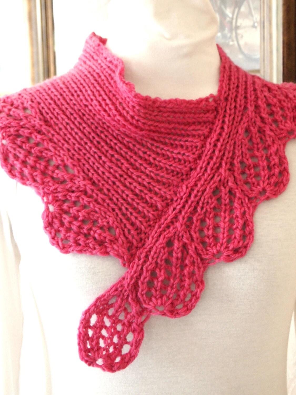 Bandana Cowl Knitting Pattern : Scarf Knitting Pattern Boysen Berry Cowl
