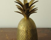 RSVD FOR SUSANNE -A vintage brass pineapple box