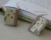 Dill Stardust Chiffon Book Earrings