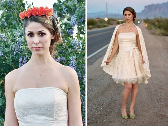SALE Jessica McClintock Rock and Roll Wedding Gown Cocktail Dress