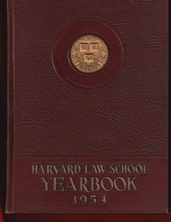 Harvard Law School Yearbook 1954 Vintage