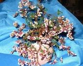Beaded Tree Sculpture - Bonsai - Flowers