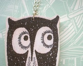 Tito The Owl Wooden Necklace - lucie0ellen