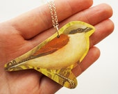 Fat Finch Wooden Necklace