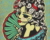 Modern cross stitch kit by Illustrated Ink 'La Catrina'