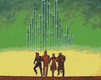 Modern Cross Stitch Kit By Robert Bretz - 'Wizard Of Oz '