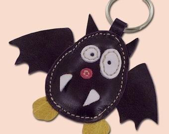 Cute little purple bat keychain