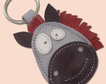 Ronnie The Cute Little Horse Leather Animal Keychain